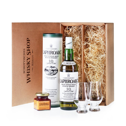 geschenkidee laphroaig 10 whisky genie er set. Black Bedroom Furniture Sets. Home Design Ideas