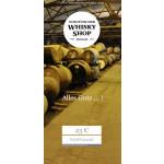 Geschenkgutschein mit Whisky 25€, 40, 50,  80, 100, 150 - 250 Euro