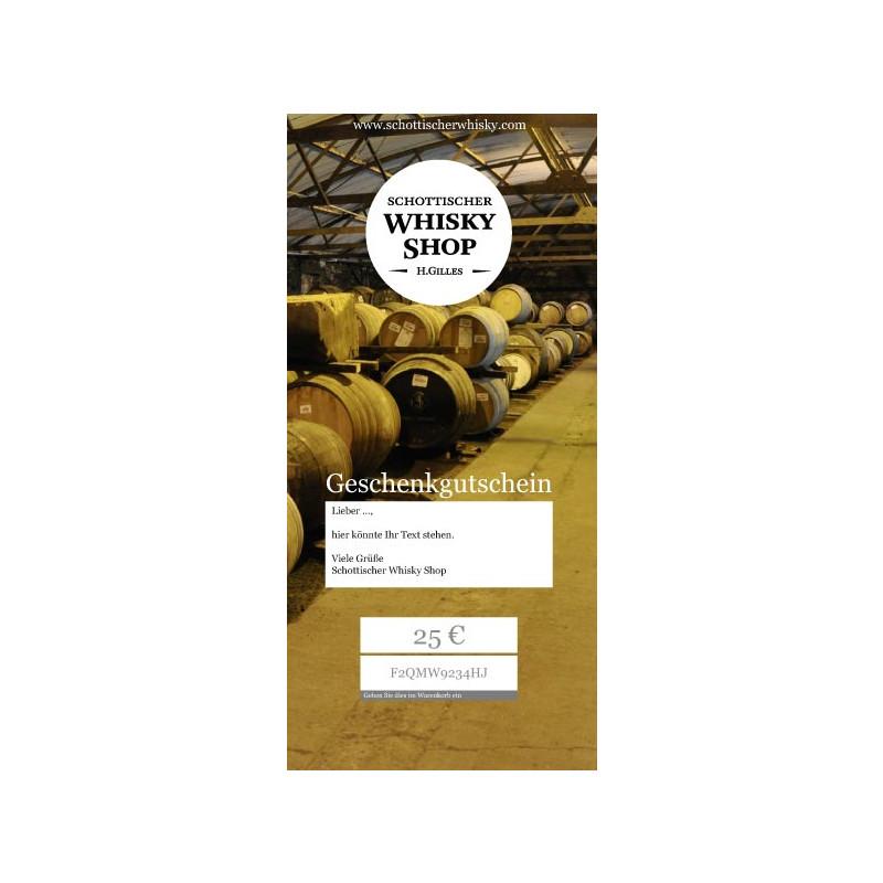 Whisky Gutschein Ausdrucken f. 25 - 250 Euro Weihnachten ...