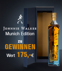 Johnnie Walker Blue Label Munich Edition - Gewinnspiel